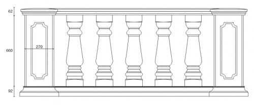 Балюстрада BL 4