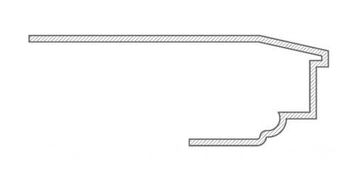 Подоконник PD 1_1 с откосом
