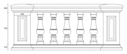 Балюстрада BL 8